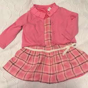 Janie and Jack tweed dress and sweater 6-12 months